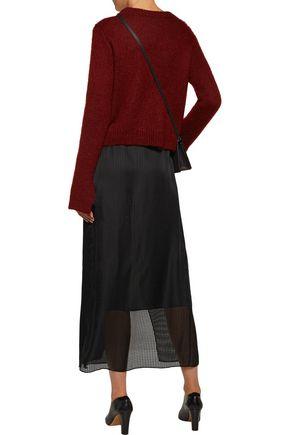 JOSEPH Annie silk-jacquard wrap maxi skirt