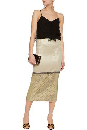 JENNY PACKHAM Metallic jacquard midi skirt