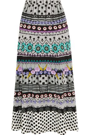 TEMPERLEY LONDON Marley printed crepe maxi skirt