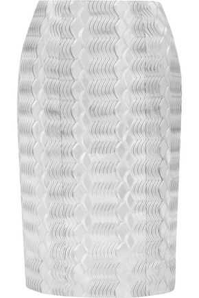 MARY KATRANTZOU Pistacite jacquard pencil skirt