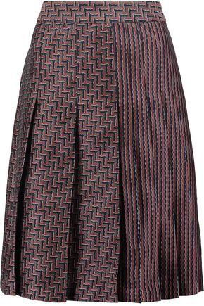 DIANE VON FURSTENBERG Ava pleated jacquard skirt
