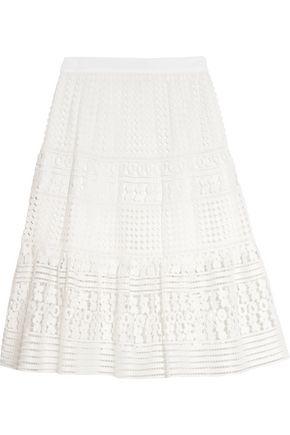 DIANE VON FURSTENBERG Guipure lace skirt