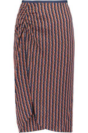 DIANE VON FURSTENBERG Lexia printed stretch silk-blend satin skirt