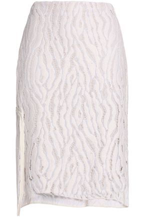 3.1 PHILLIP LIM Broken Line silk-trimmed lace skirt