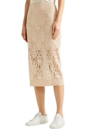 DKNY Flocked lace skirt