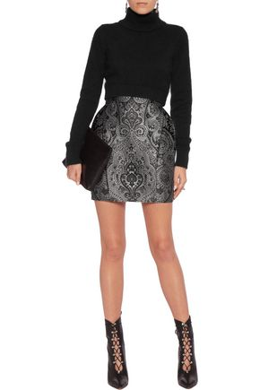 BALMAIN Metallic jacquard mini skirt