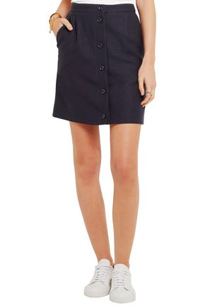 A.P.C. Monica linen and cotton-blend mini skirt