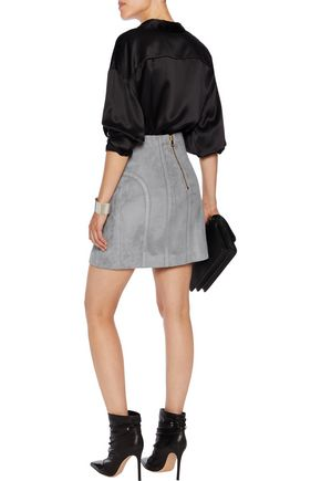 BALMAIN Suede mini skirt
