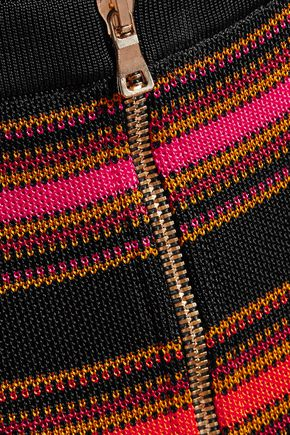 BALMAIN Intarsia-knit mini skirt