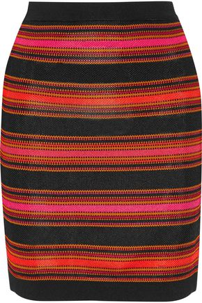 BALMAIN Intarsia-knit mini skirt