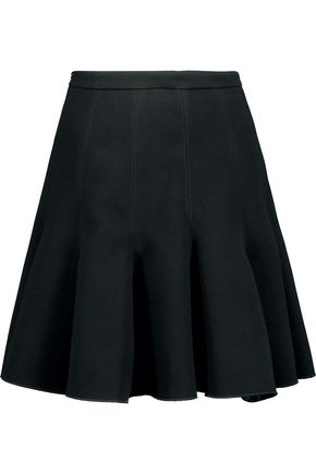 CARVEN Fluted crepe mini skirt