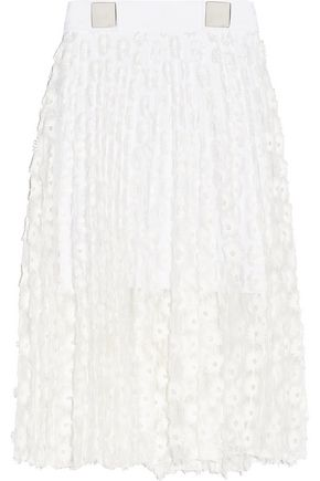 CARVEN Fil coupé tulle skirt