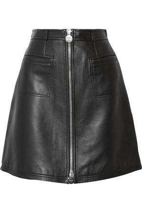 CARVEN Leather mini skirt