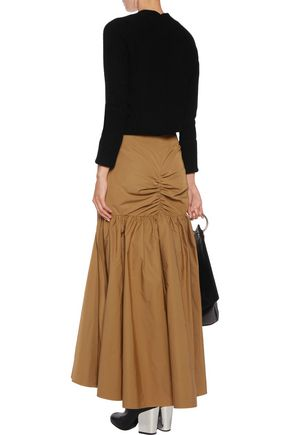 •ELLERY• Dollface ruched faille maxi skirt