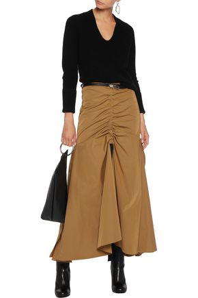 ELLERY Dollface ruched faille maxi skirt