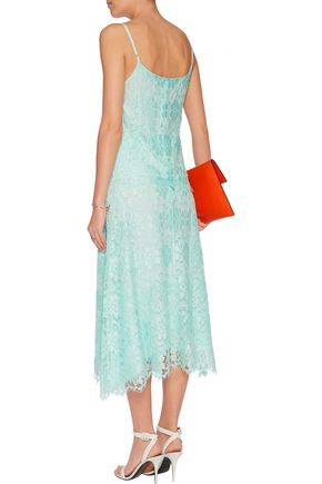 CHRISTOPHER KANE Corded lace midi skirt