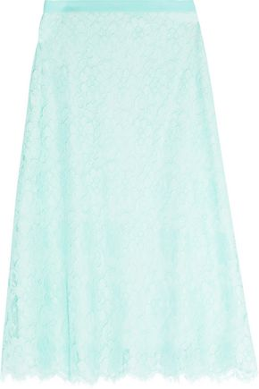 CHRISTOPHER KANE Corded lace and crepe midi skirt
