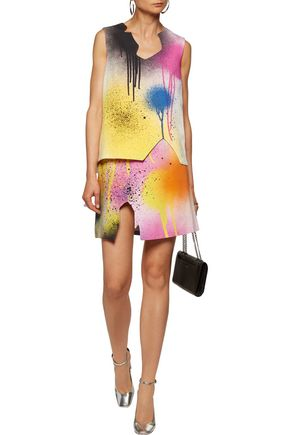 CHRISTOPHER KANE Printed cady mini skirt