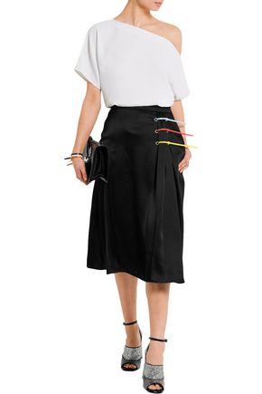 CHRISTOPHER KANE Cable tie-trimmed satin skirt