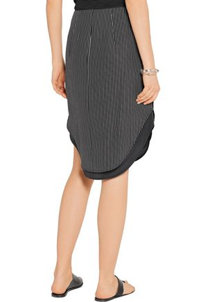 RAG & BONE Madison layered striped silk skirt