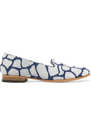 DIEPPA RESTREPO Dandy denim slippers