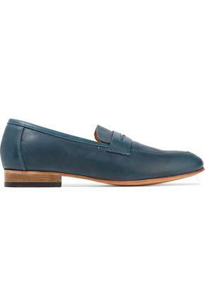 DIEPPA RESTREPO Metallic patent-leather loafers