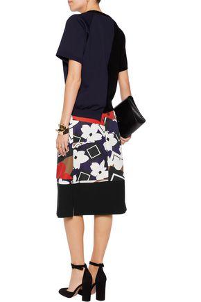 JIL SANDER Printed twill skirt