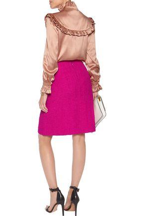 NINA RICCI Silk-blend cloqué skirt