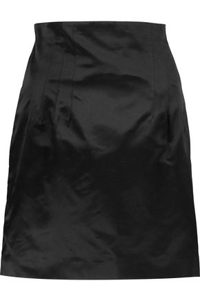 NINA RICCI Silk-satin mini skirt