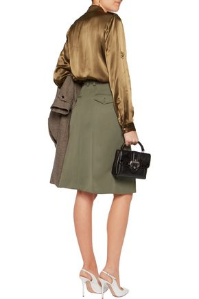 NINA RICCI Pleated wool skirt