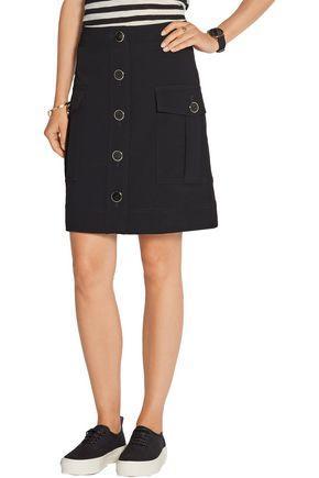 DKNY Stretch-cady skirt