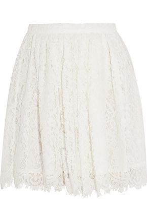 IRO Izia pleated guipure lace mini skirt