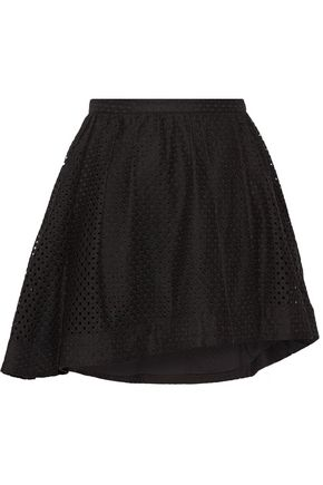 IRO Otilia wrap-effect pleated broderie anglaise mini skirt
