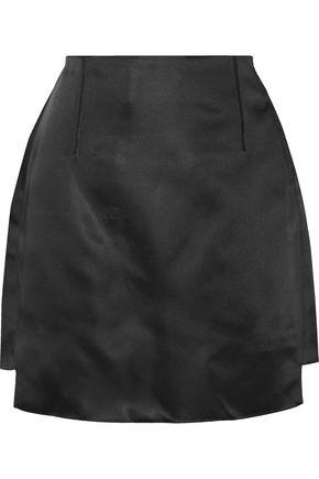 ACNE STUDIOS Lidia asymmetric duchesse satin mini skirt