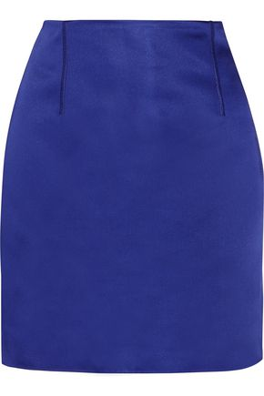 ACNE STUDIOS Lidia asymmetric duchesse-satin mini skirt