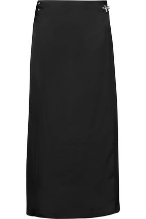 ACNE STUDIOS Palm wrap-effect satin midi skirt
