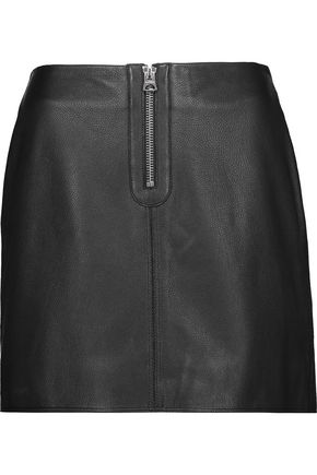 ACNE STUDIOS Franca leather mini skirt