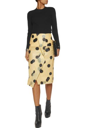 MARC BY MARC JACOBS Misty wrap-effect polka-dot PU skirt