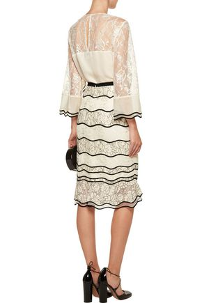 SACHIN & BABI St. Petersburg paneled lace peplum skirt