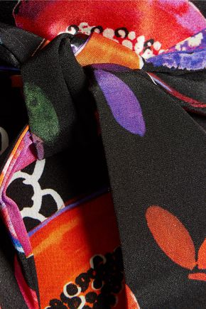 MATTHEW WILLIAMSON Printed silk crepe de chine maxi skirt