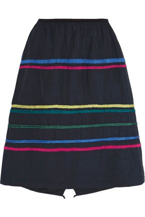 MIRA MIKATI Embroidered faille skirt