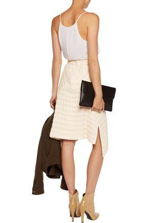 ISABEL MARANT Galeo asymmetric cotton-matelassé midi skirt