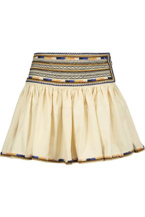 ISABEL MARANT Saxen embellished cotton mini skirt