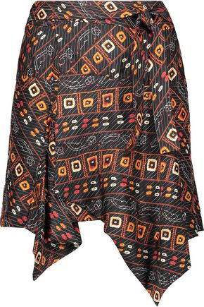 ISABEL MARANT Tosi asymmetric printed silk mini skirt
