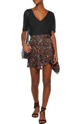 ISABEL MARANT Tosi asymmetric printed silk mini skirt