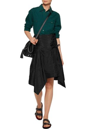 ISABEL MARANT Kerena asymmetric shell wrap skirt