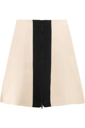 CARVEN Two-tone crepe mini skirt