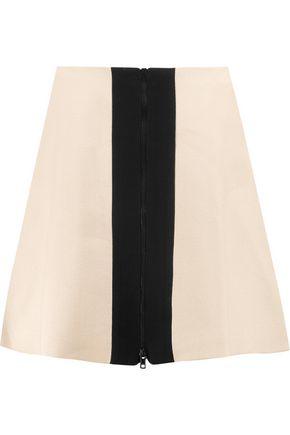 CARVEN Two-tone crepe mini skirt