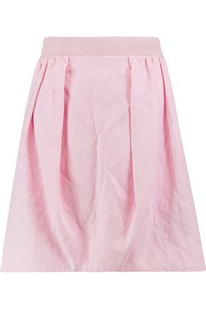 CARVEN Cotton-blend canvas mini skirt