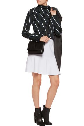 CARVEN Cady crepe mini skirt
